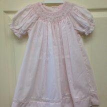 Pink Floral Smocked Dress 5803