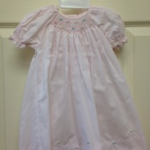 Pink Smocked Flower Dress