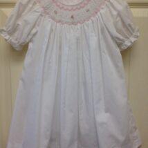 White Dress w Pink & White Smock