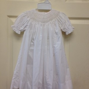 White Dress w White Smocking