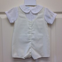 White Top Yellow Overall Shortall