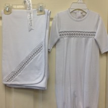 White and Silver Smock Set