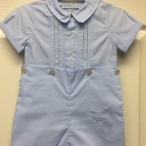 Blue Button Shortall w Sailboat