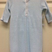 Blue Stripe Gown white buttons on chest