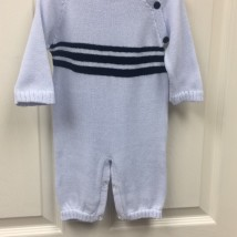 Blue Striped Onesie w Hat