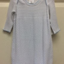 Gray Stripe Gown Thin Blue Trim