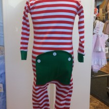 Holly Jolly Stripe Jammies Back