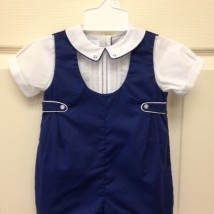 Navy White Shortall