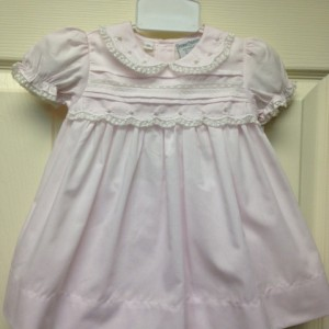 Pink Gown w bloomers w lace & rose detail