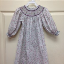 Rosebud LongSleeve Smock Dress