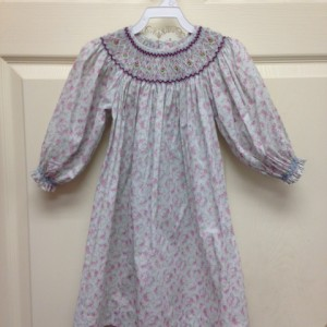 Rosebud LongSleeve Smock Dress