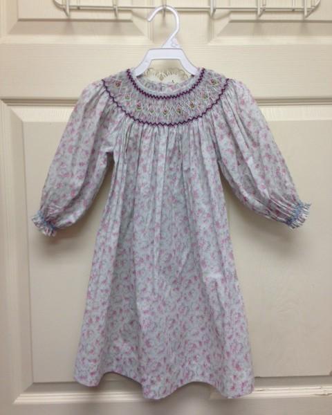 a12a6aad2 Love Me- Long Sleeve Smocked Bishop Dress