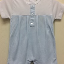 White & Blue Button Shortall