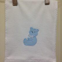 Blue Bear Burp Cloth