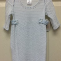 Blue Stripe Gown w floral sides