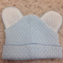 Blue & White Hat w Ears