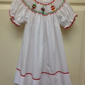 Christmas Smocked Gown