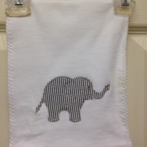 Dark Gray Elephant Burp Cloth