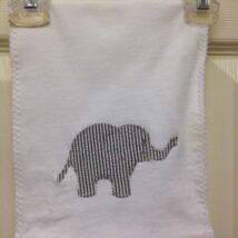Dark Gray Elephant Burp Cloth