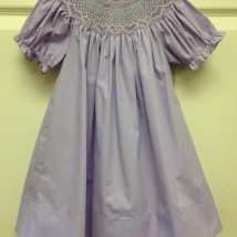 Lavender Dress w White Smock