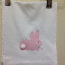 Pink Bunny Burp Cloth