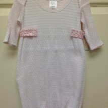 Pink Stripe Gown w Floral Sides
