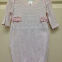 Pink Stripe Gown w Floral Sides