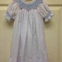 White Dress with Blue Smock