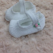 White Knit Booties