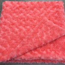 Coral Rosebud Blanket