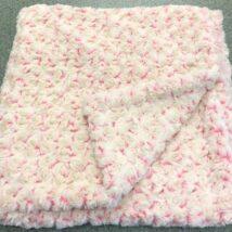 Cream & Pink Rosebud Blanket
