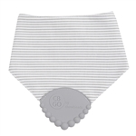 Grey Stripes Teething Bib