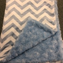 Light Blue Chevron Blanket
