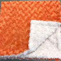 Orange & White Rosebud Blanket