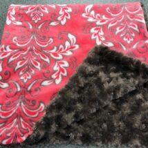 Pink & Brown Fleur De Lys Blanket
