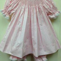 Pink Dress w White & Pink Smock