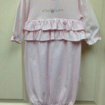 Pink Rosebud Ruffle Gown