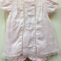 Pink Set w Ecru Lace