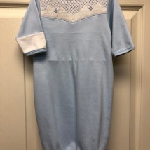 Blue Boy Gown w White & Blue Smock