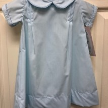 Blue Day Gown w Blue Trim