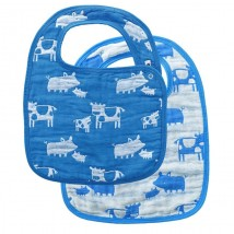 Blue Farm Animal Bibs