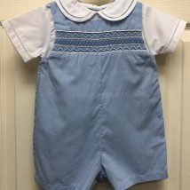Blue Smocked Romper