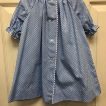 Blue & White Dot Day Dress