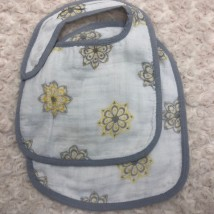 Grey & Yellow Floral Bib Set