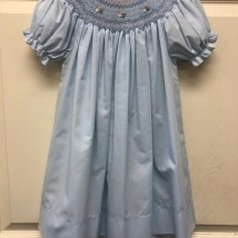 Light Blue Smocked Dress