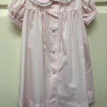 Light Pink Day Dress, White Lace Trim