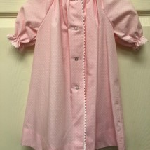 Pink Day Dress w White Dots