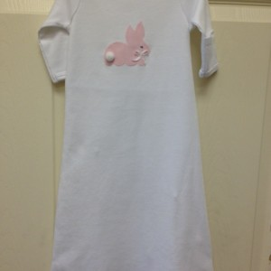 Pink Plaid Bunny Gown