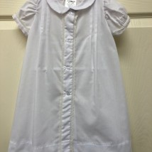 White Day Dress w Ecru Lace Trim