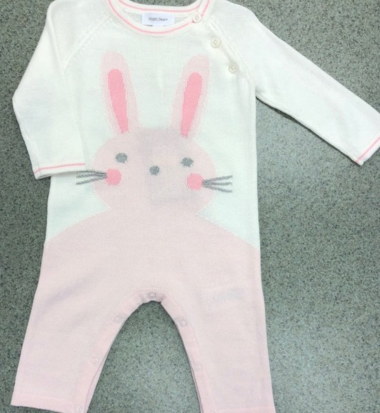 Angel Dear- Pink Bunny Onesie | Fisher's Baby Boutique